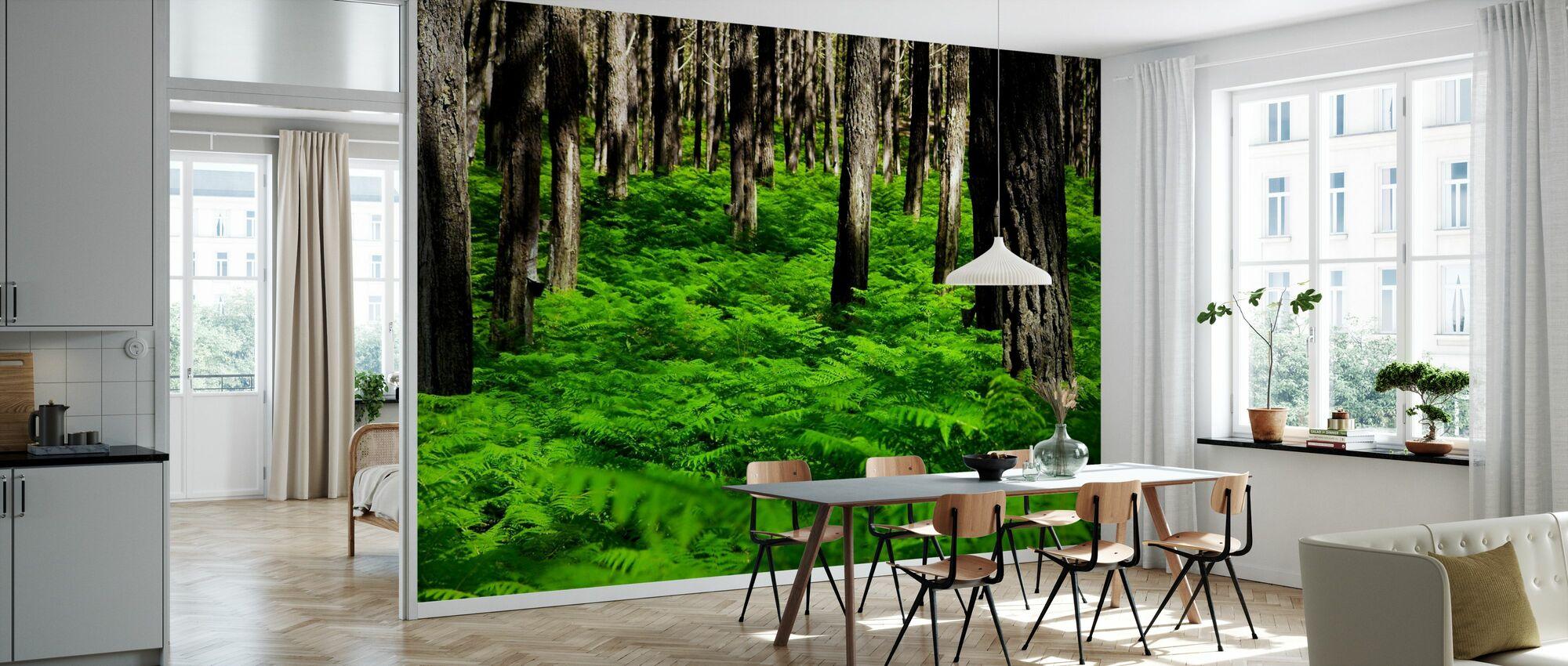 Groene Harmonie - Behang - Keuken
