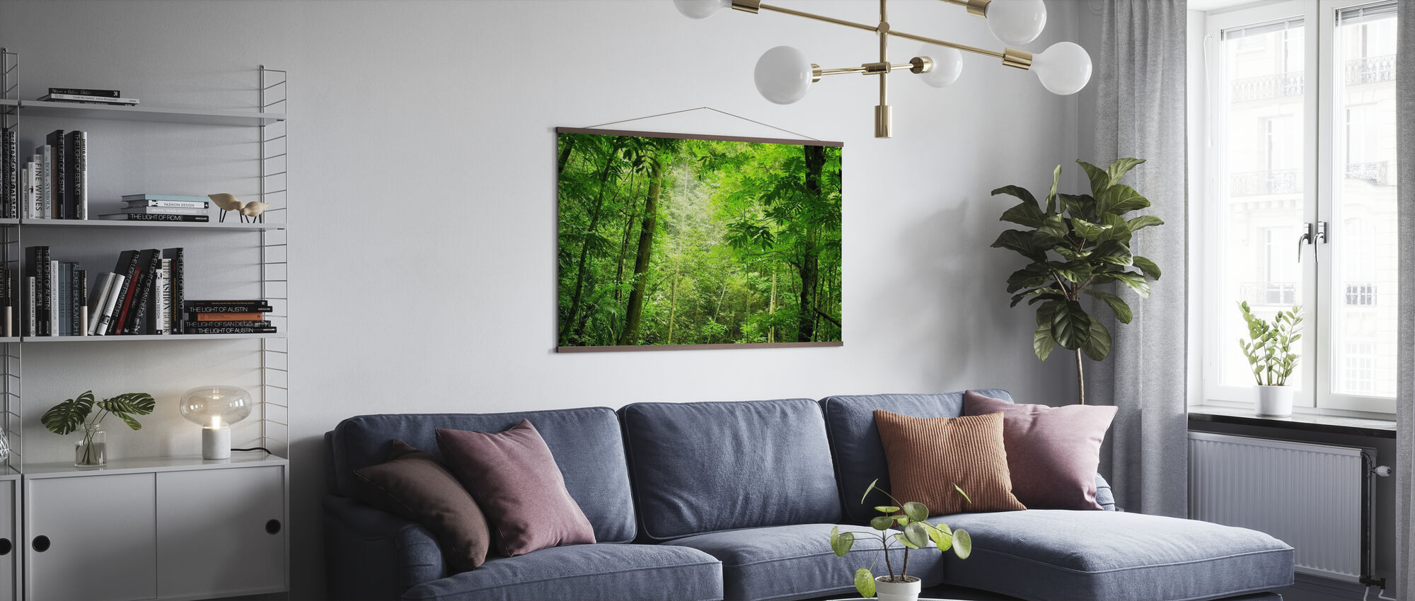 Steamy Forest - Poster - Living Room