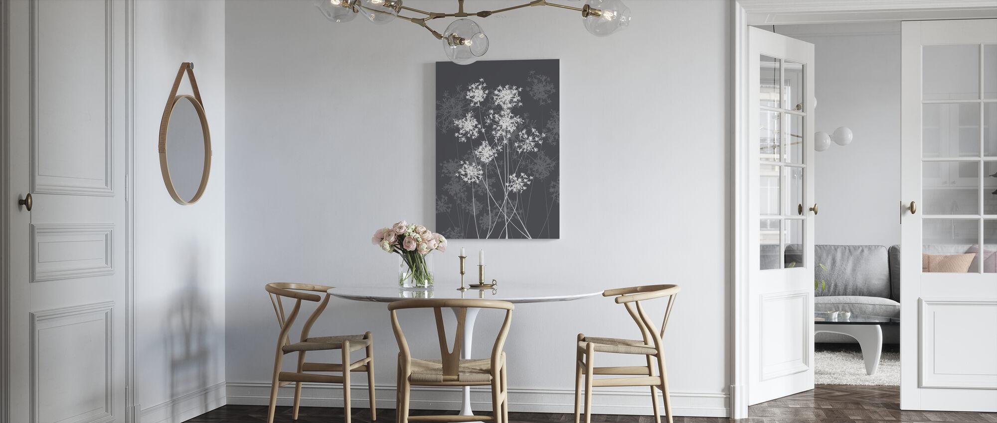 Dandelions - Grey - Canvas print - Kitchen