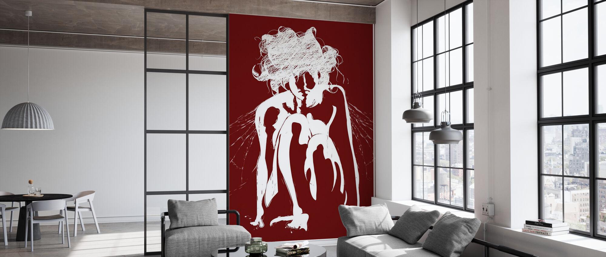 Tinker - Rouge - Papier peint - Bureau