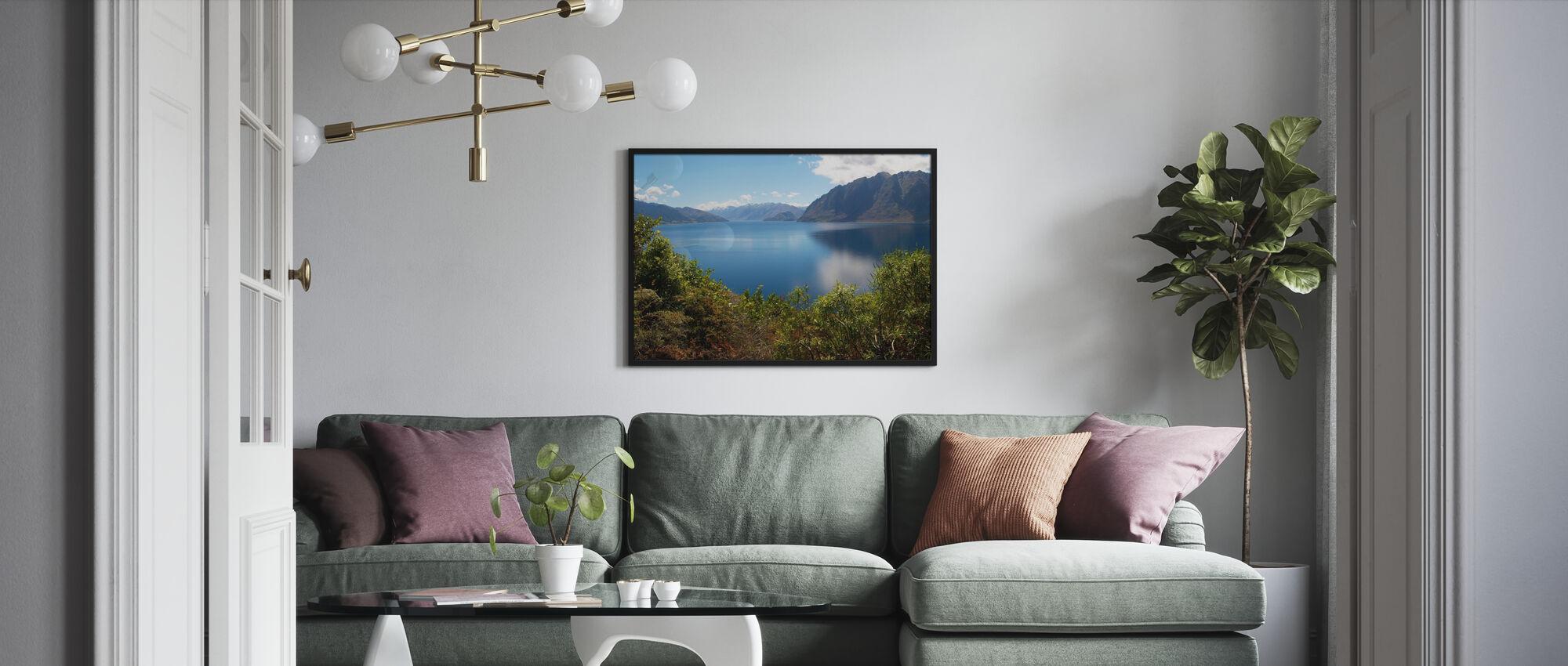 Nz Lake - Innrammet bilde - Stue