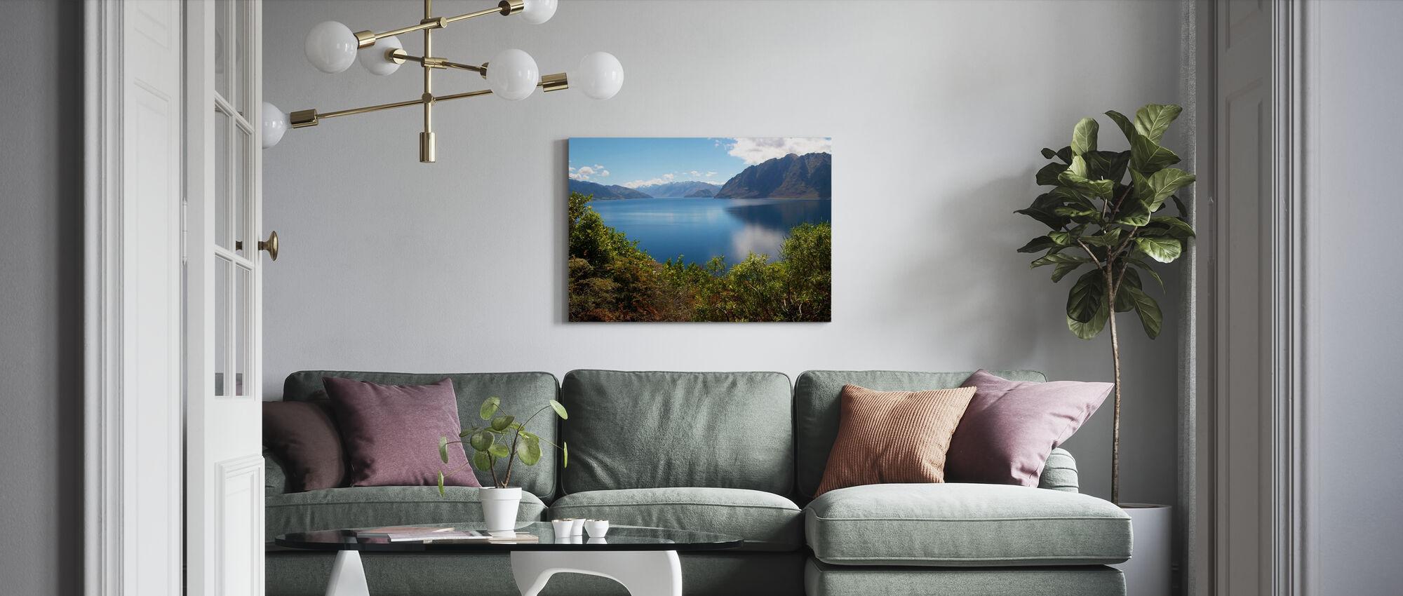 Nz Lake - Canvas print - Living Room