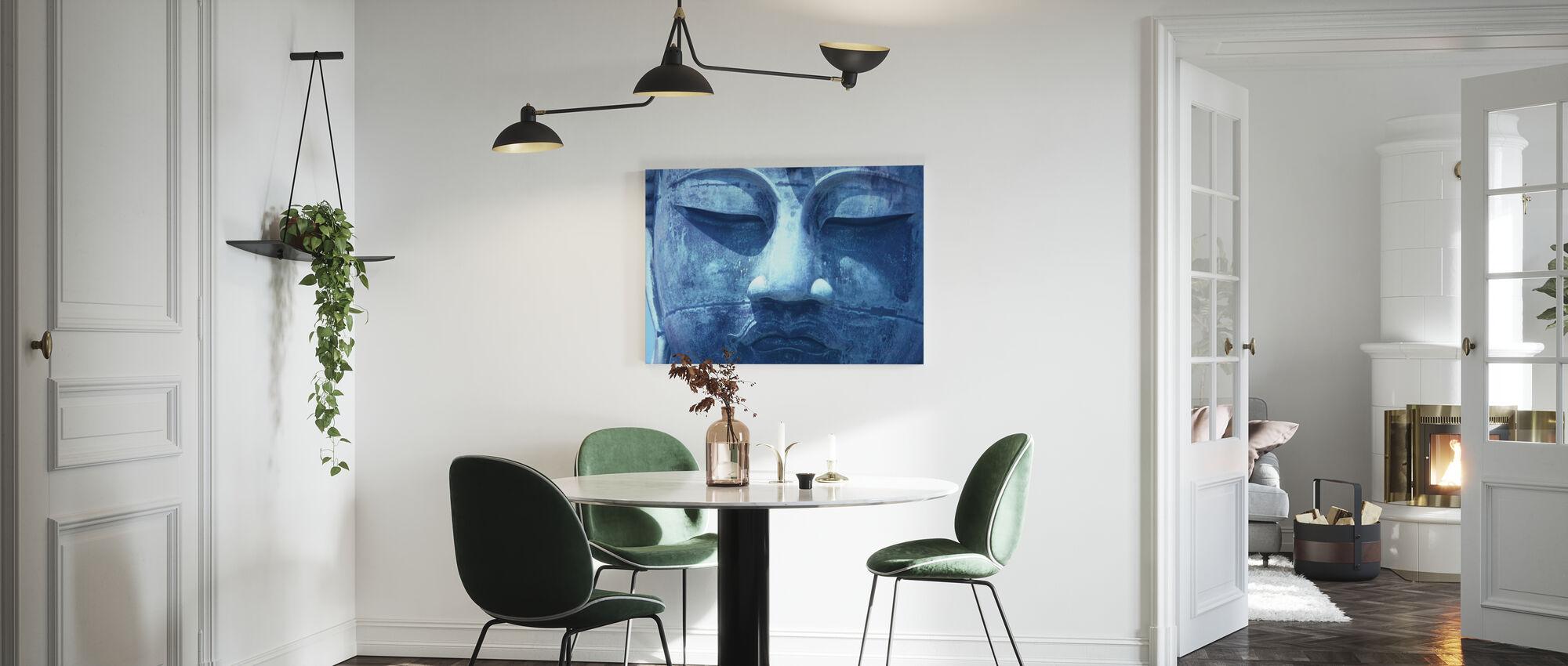 Blauwe Boeddha - Canvas print - Keuken