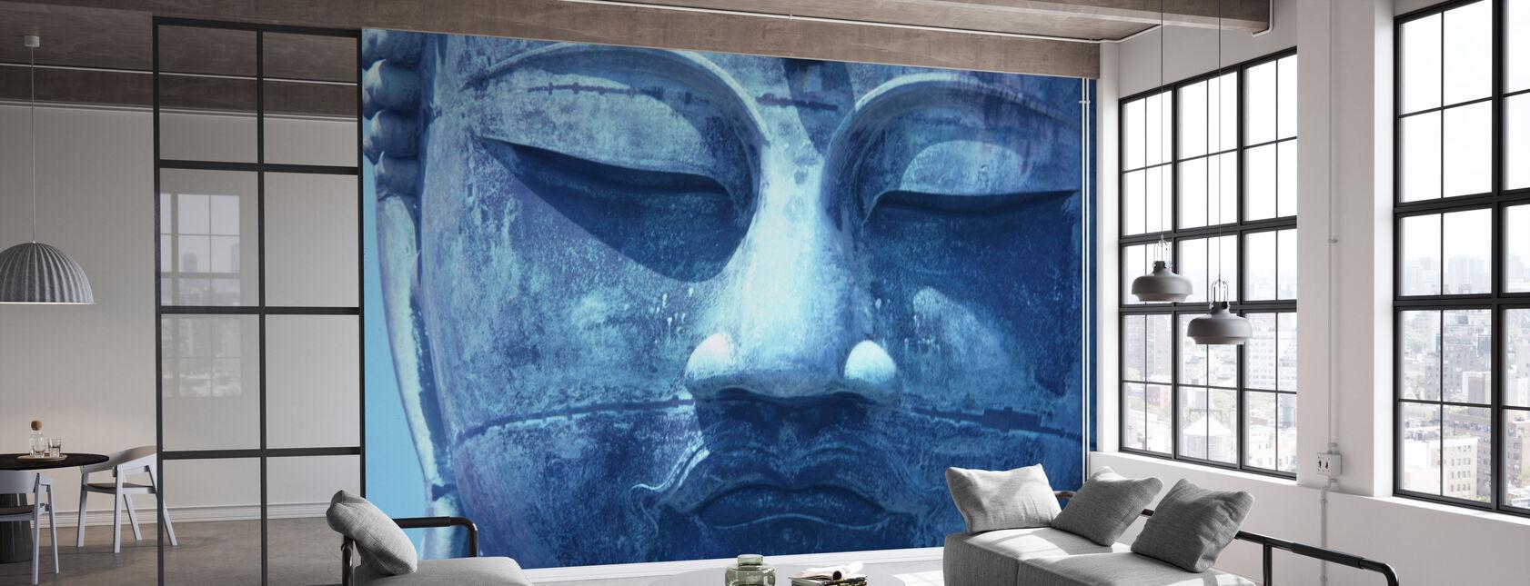 Bouddha bleu - Papier peint - Bureau