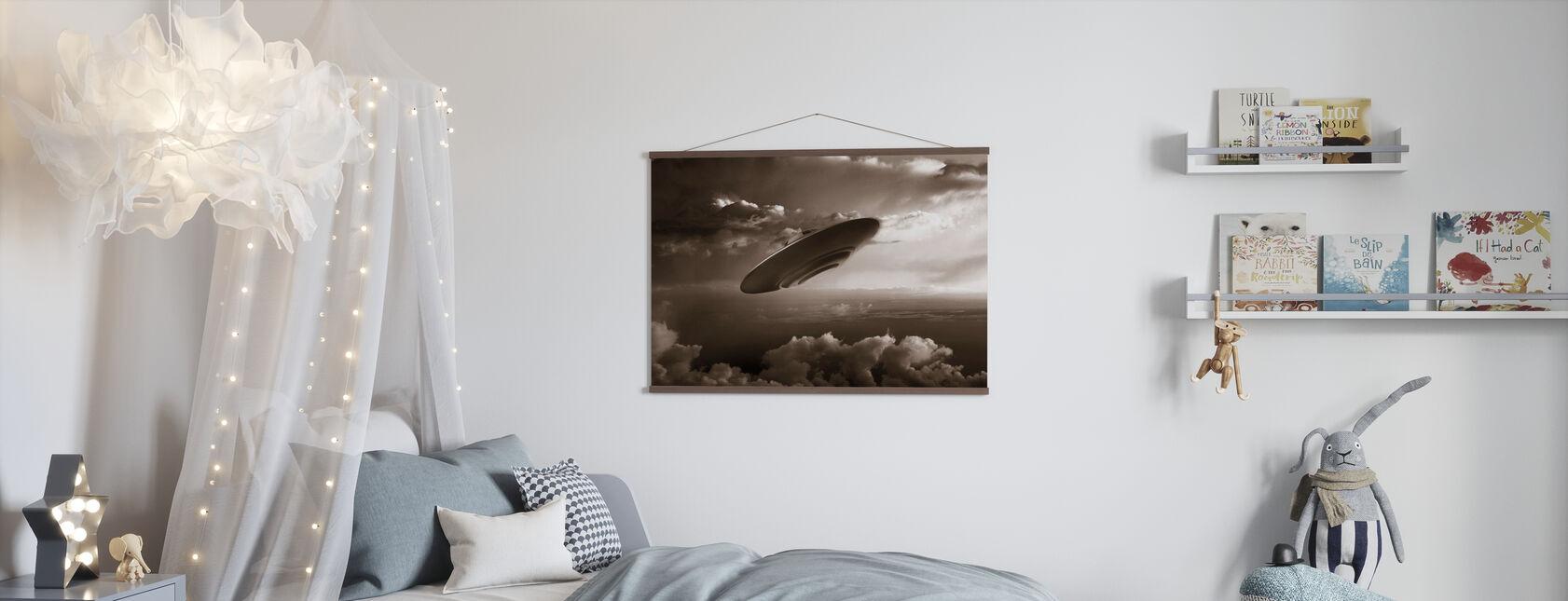 Ufo - Sepia - Juliste - Lastenhuone
