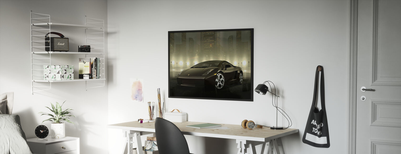 Dark Lamborghini - Framed print - Kids Room