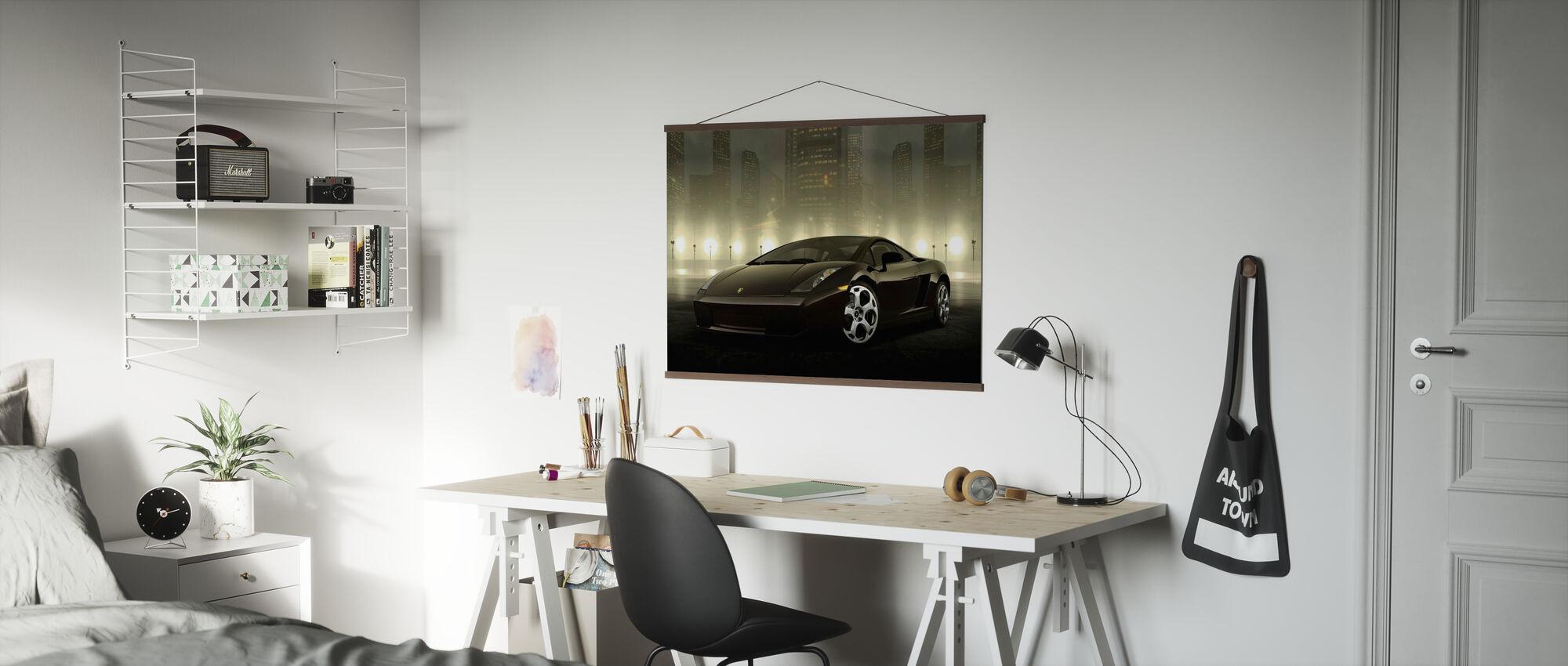 Mørk Lamborghini - Plakat - Kontor
