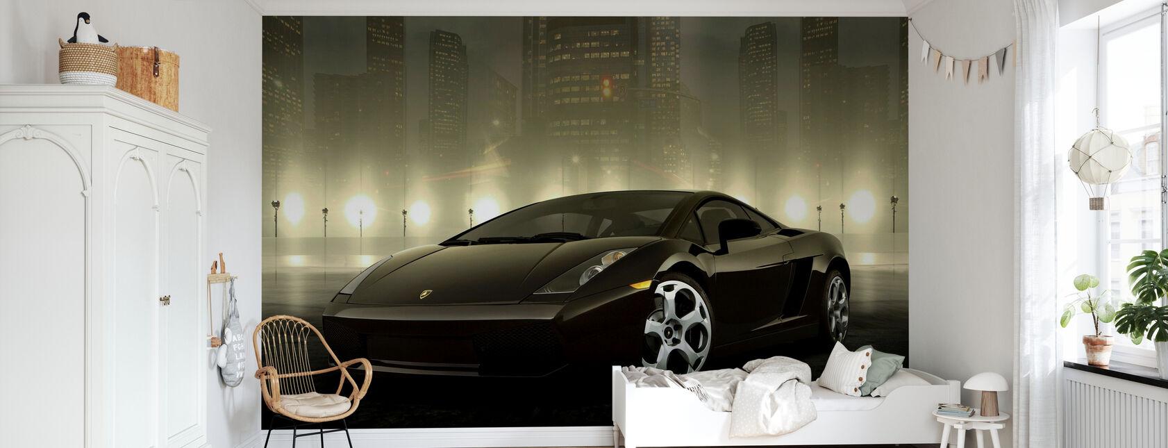 Tumma Lamborghini - Tapetti - Lastenhuone