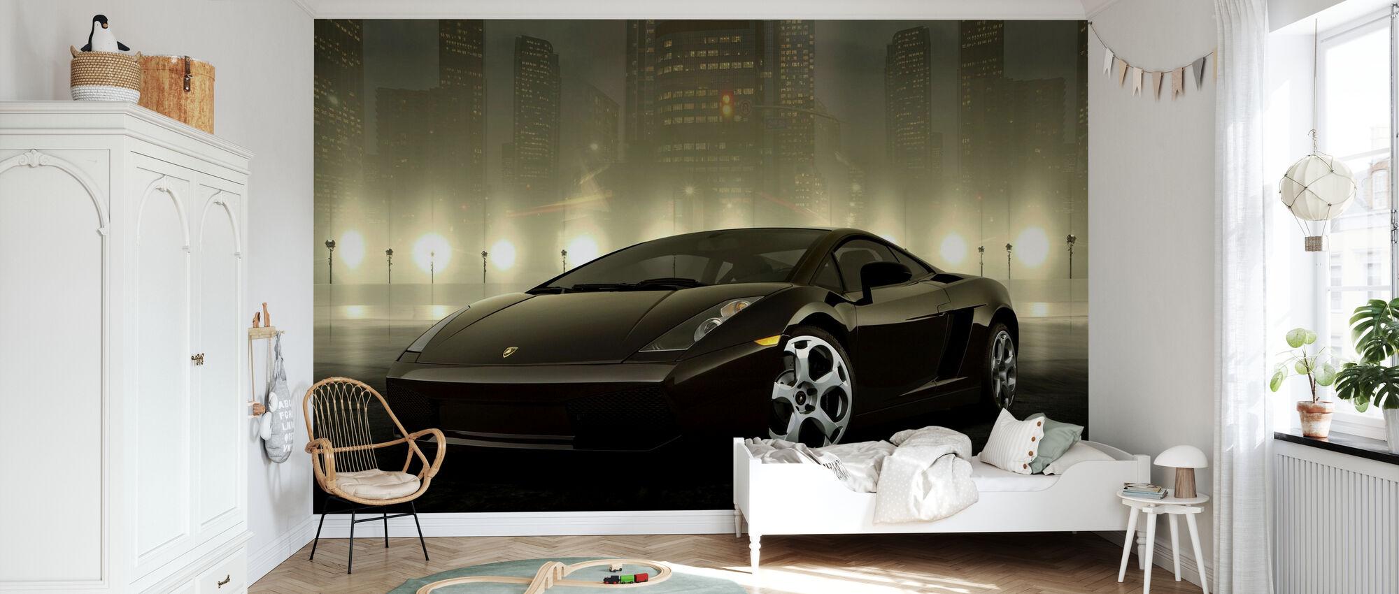 Dark Lamborghini - Wallpaper - Kids Room