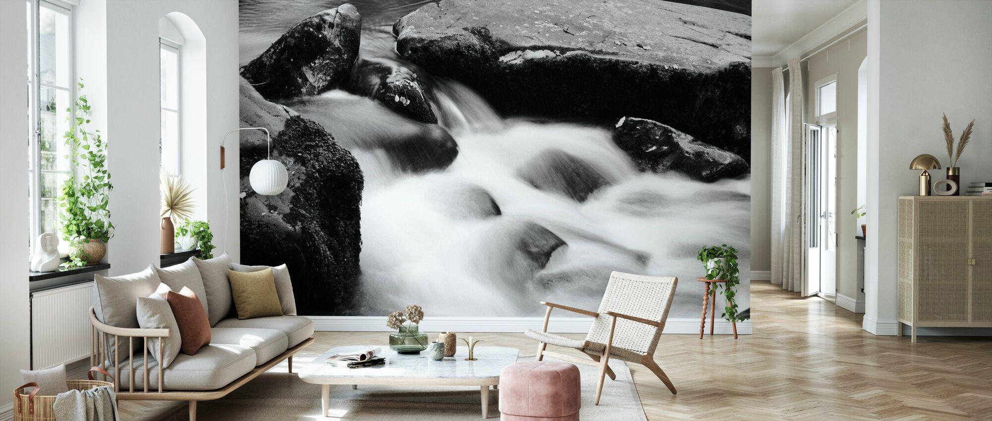 River Mawddach - b/w - Wallpaper - Living Room