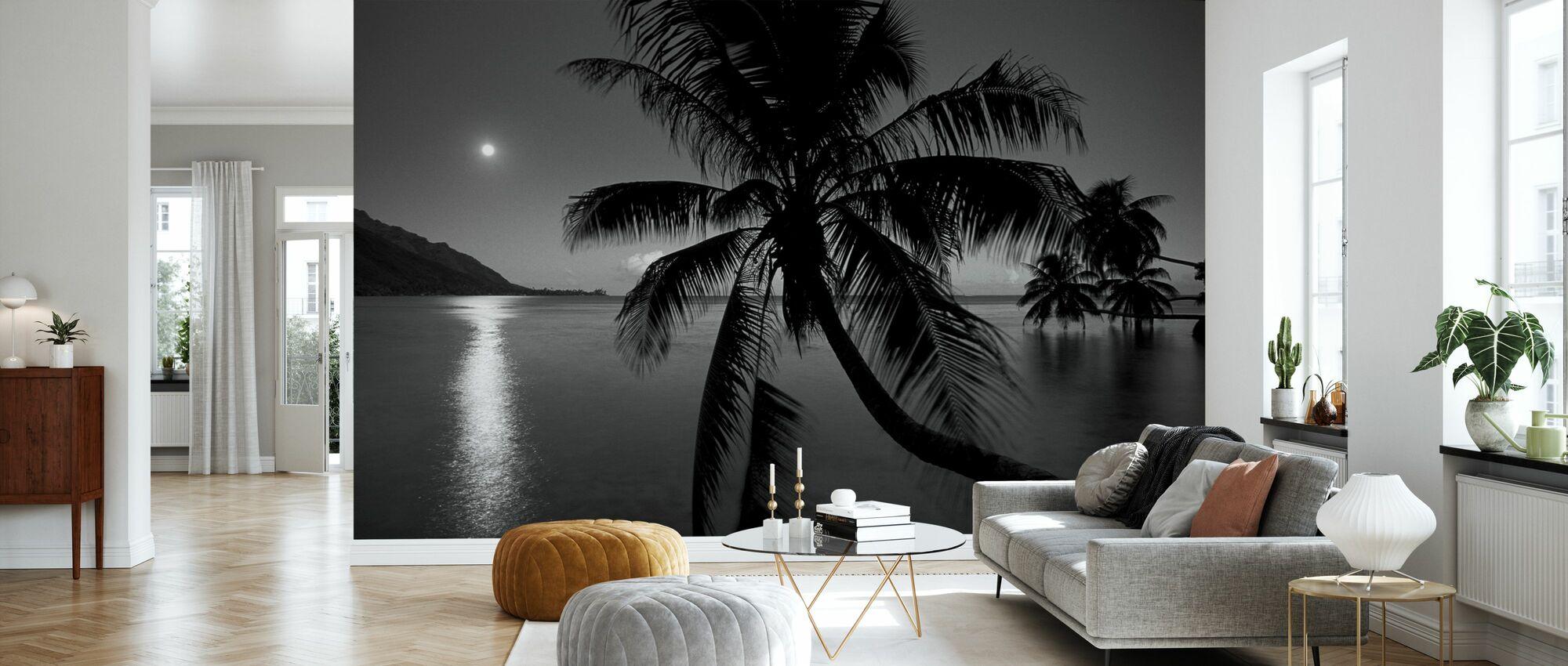 Dream Island - z/w - Behang - Woonkamer