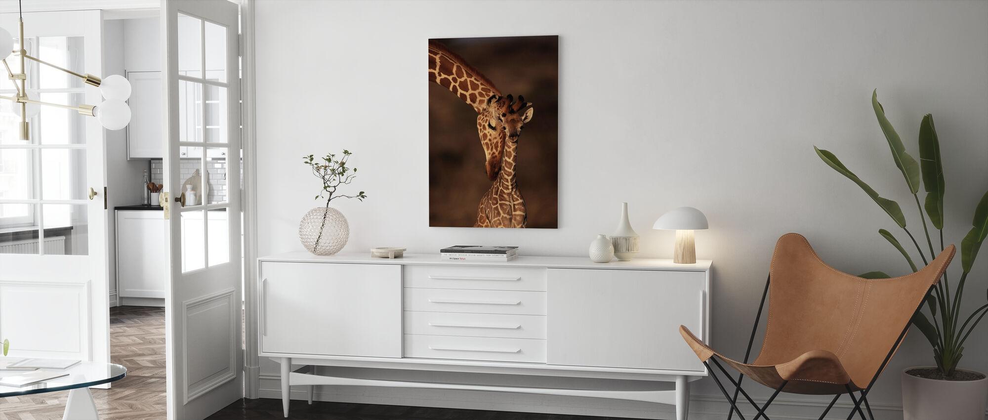 Giraffes - Canvas print - Living Room