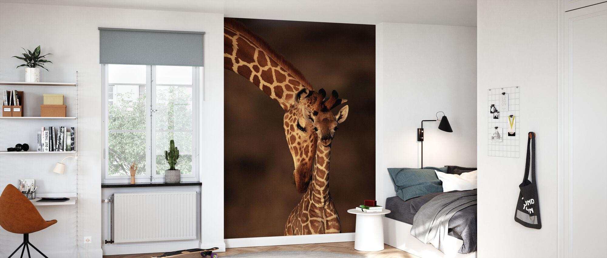 Żyrafy - Tapeta - Pokój dziecięcy