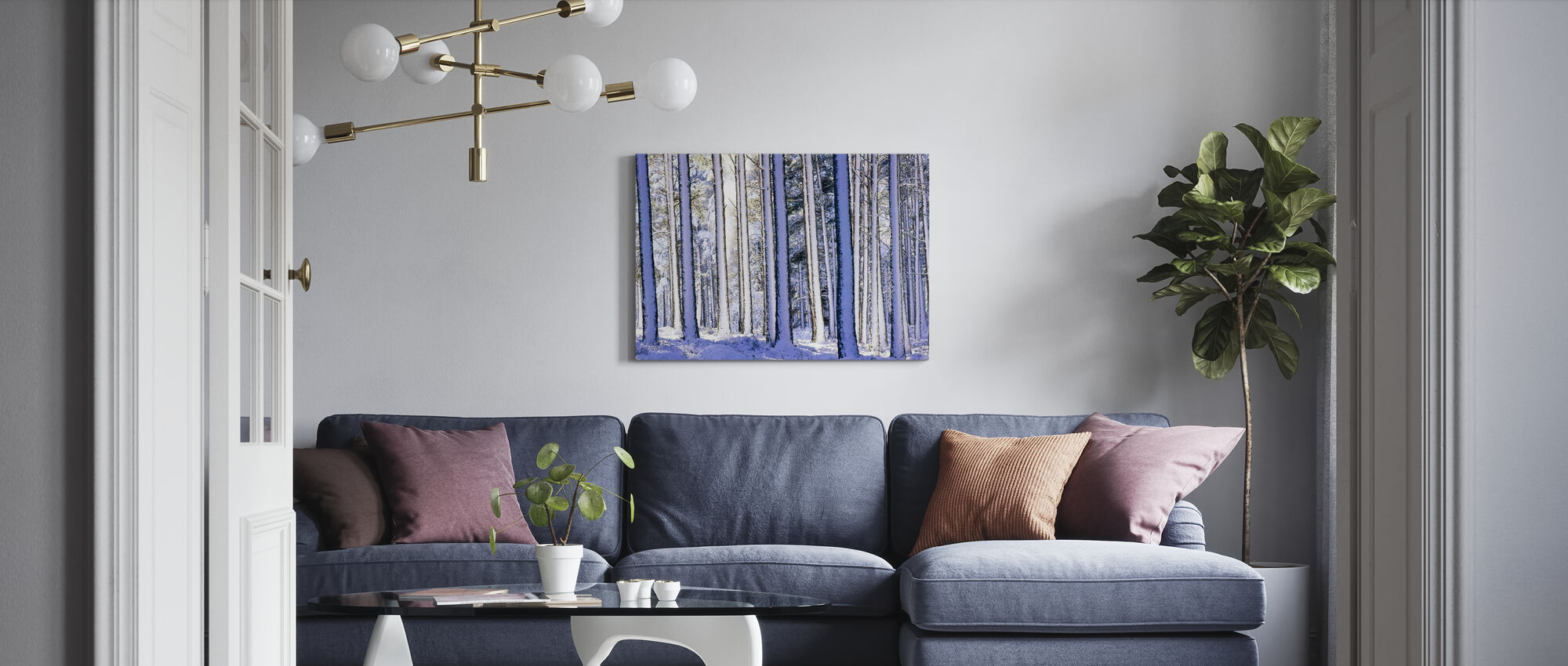 Winter Forest - Canvas print - Living Room