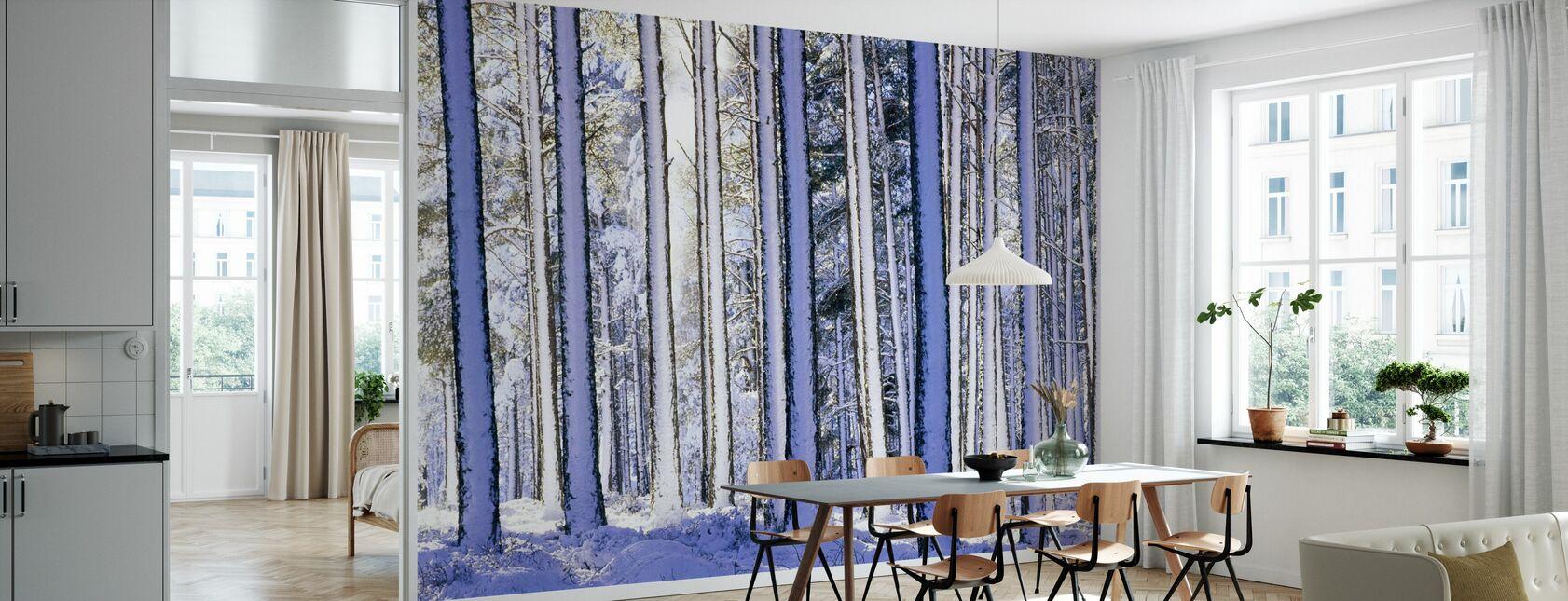 Winterbos - Behang - Keuken