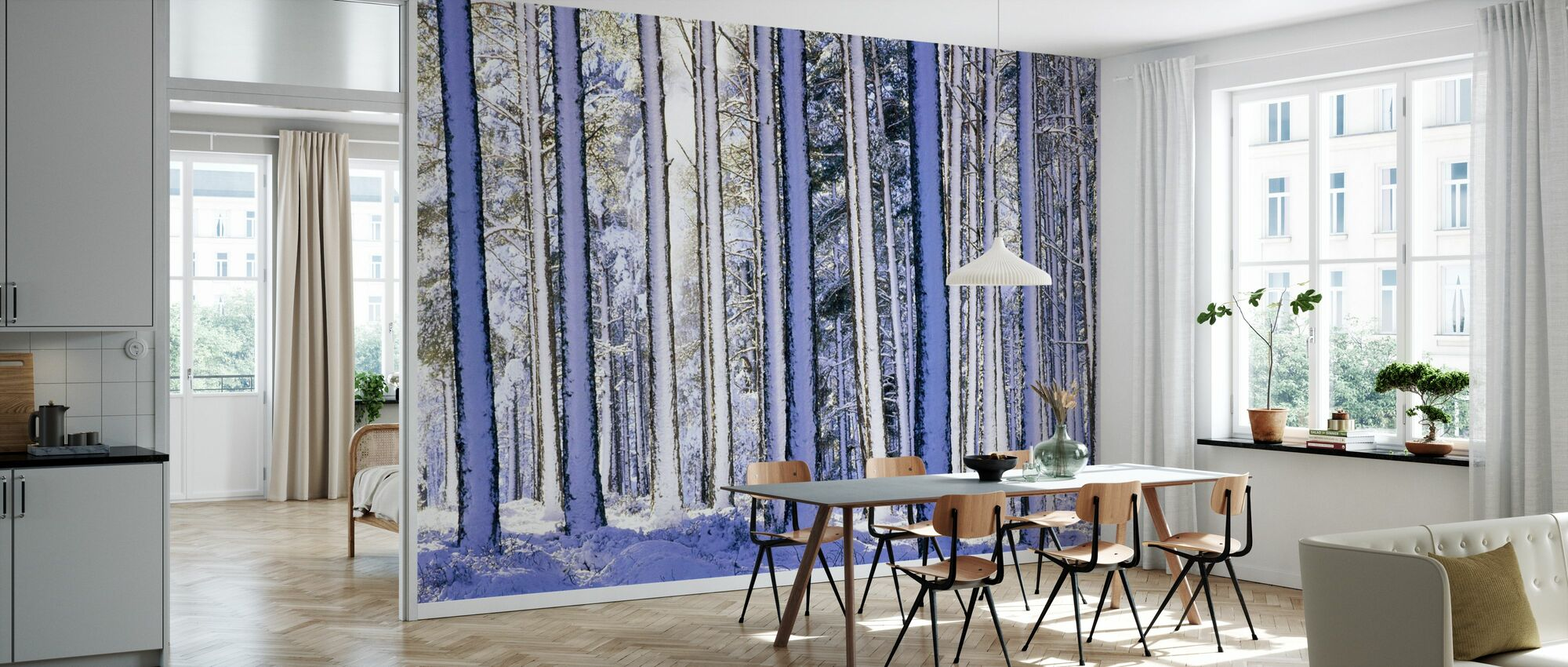 Winter Forest - Wallpaper - Kitchen