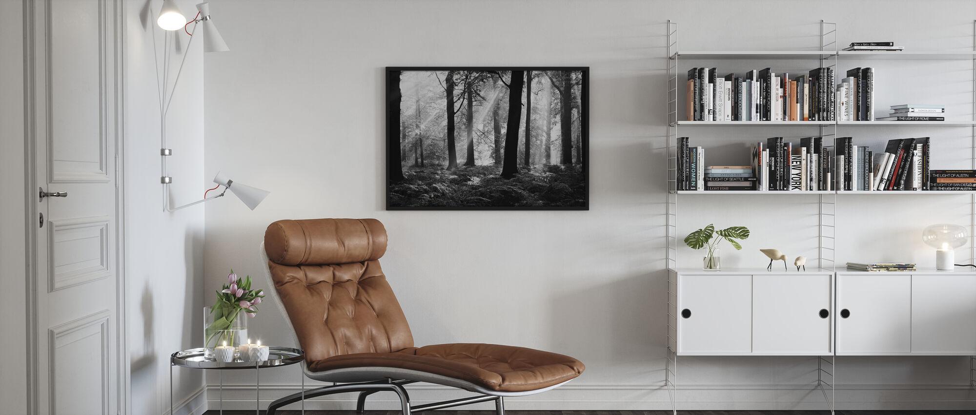 August Morning - b/w - Framed print - Living Room