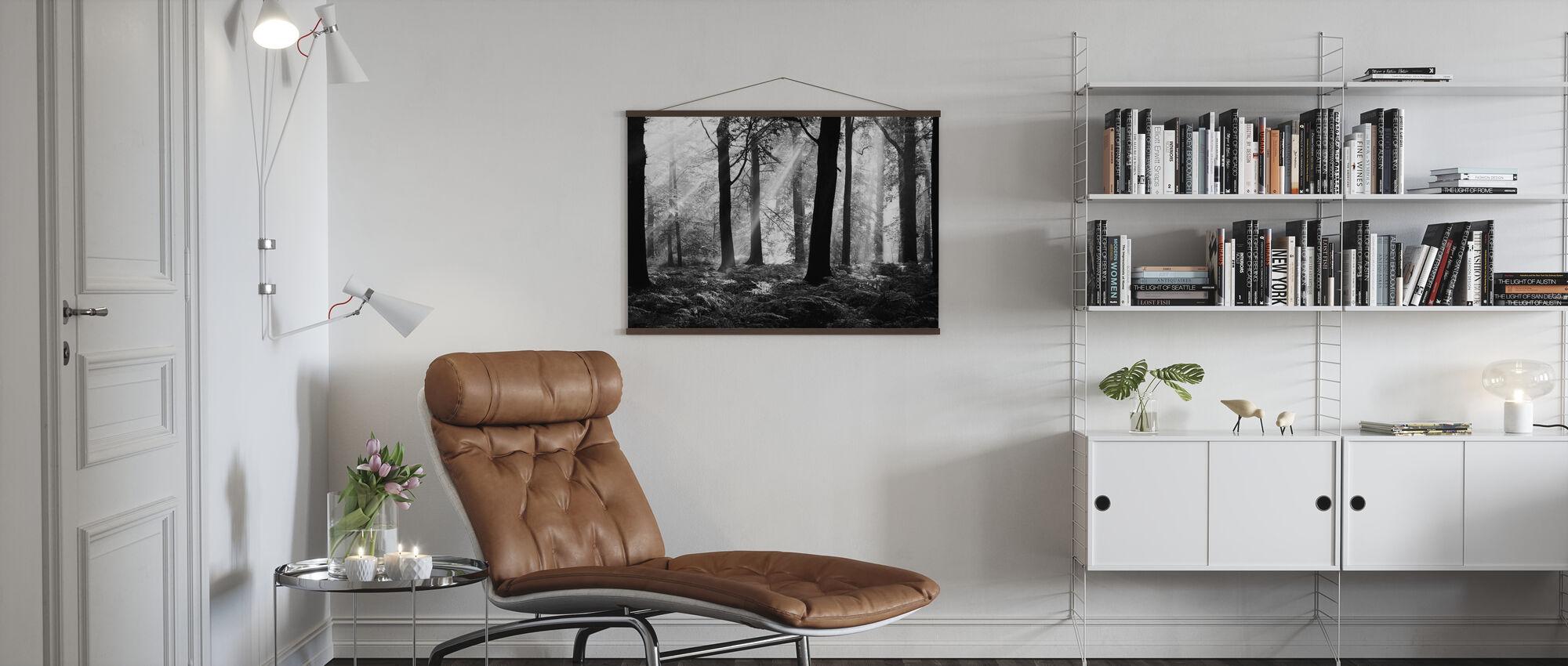 August Morning - b/w - Poster - Living Room