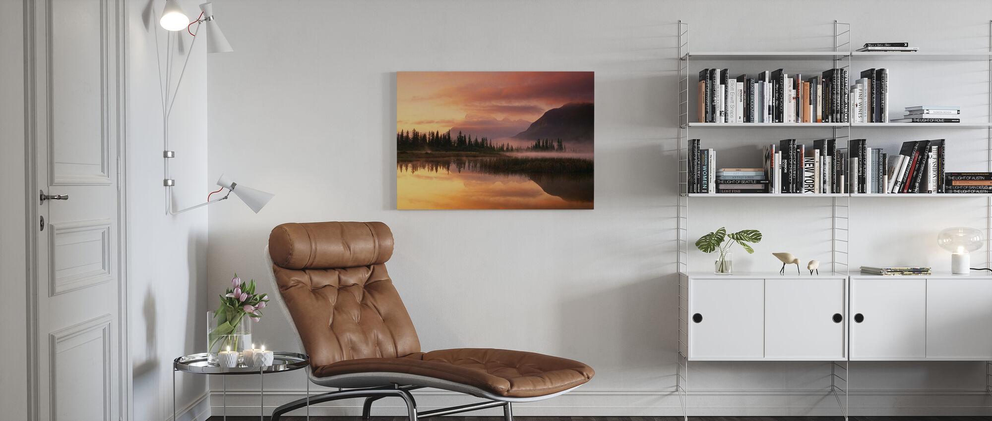 Orange Reflection - Canvas print - Living Room