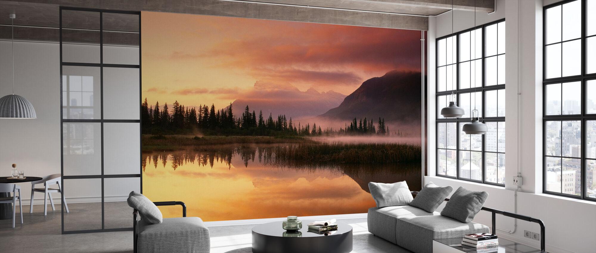 Orange Reflection - Wallpaper - Office