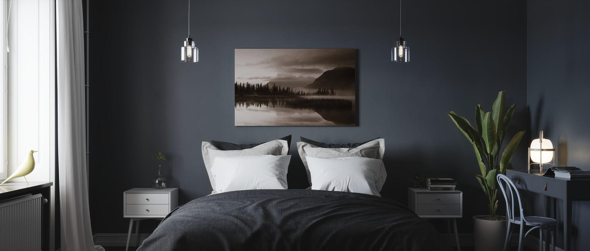 Reflectie - Sepia - Canvas print - Slaapkamer