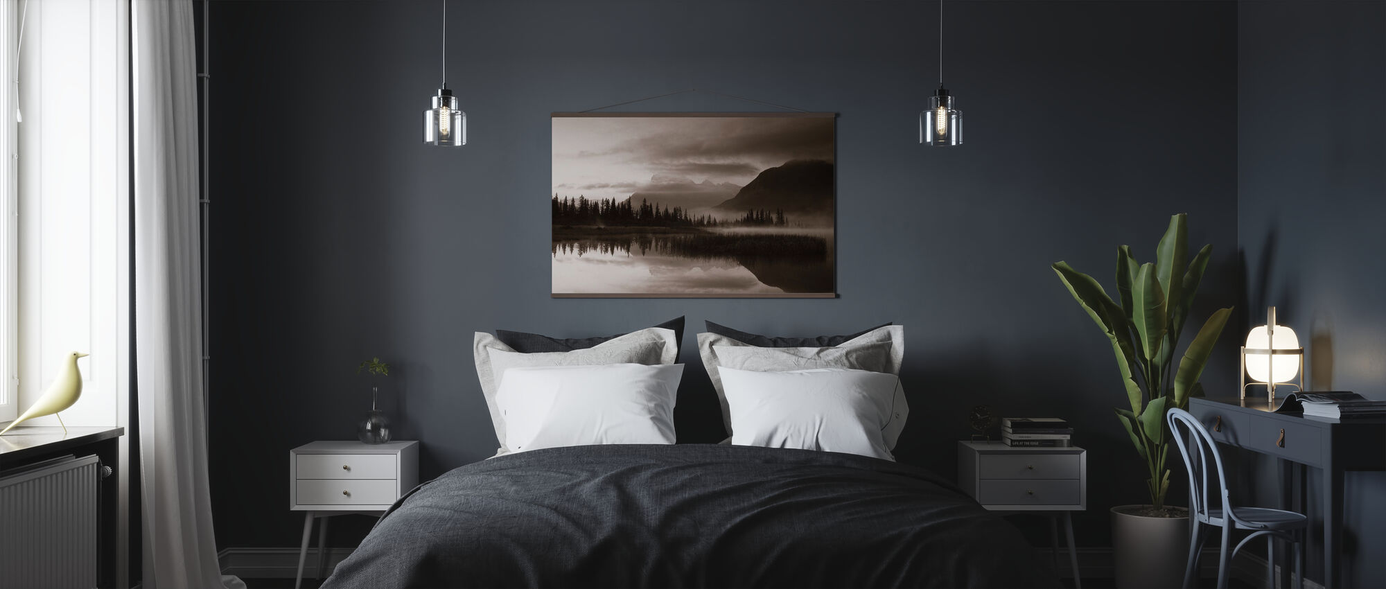 Reflection - Sepia - Poster - Bedroom
