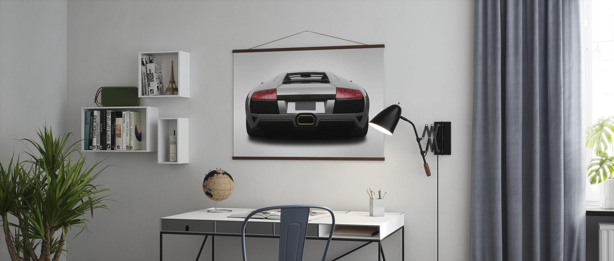 Lamborghini de derrière - Affiche - Bureau