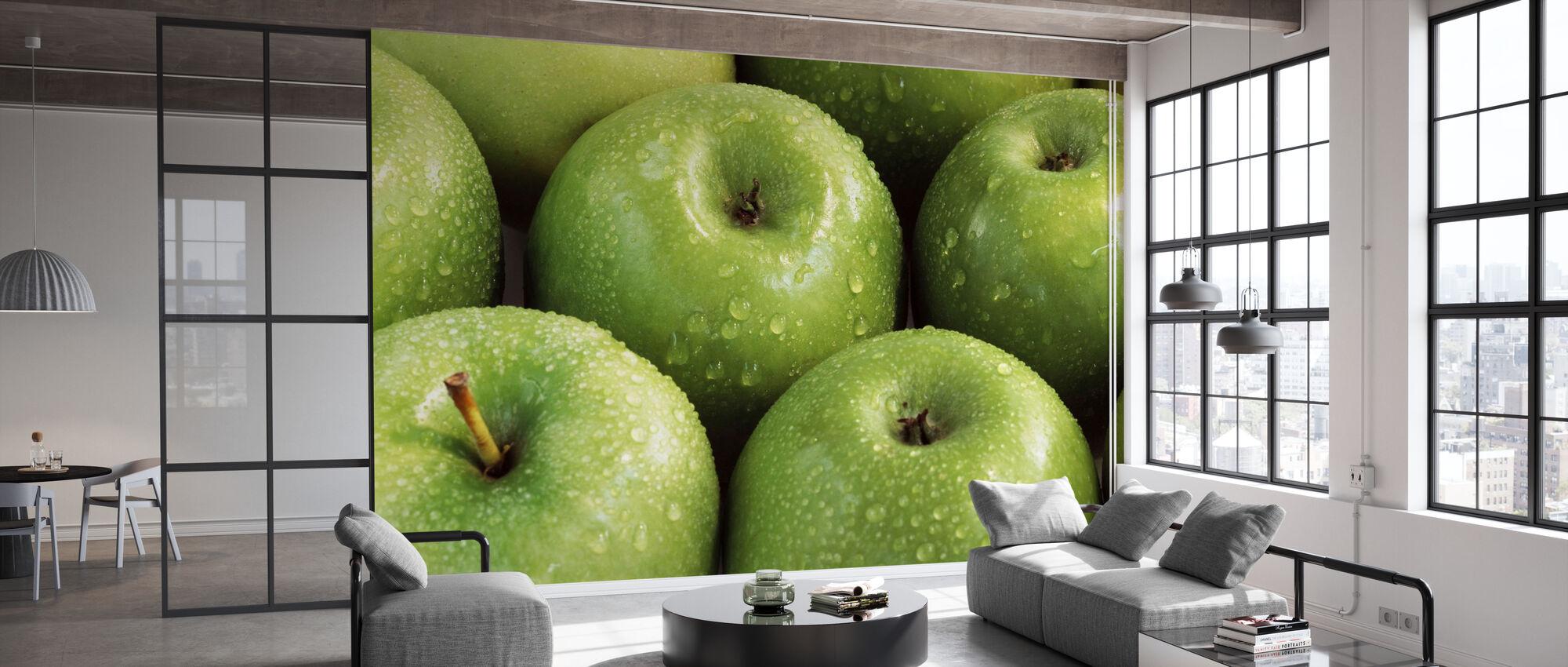Äpfel - Tapete - Büro