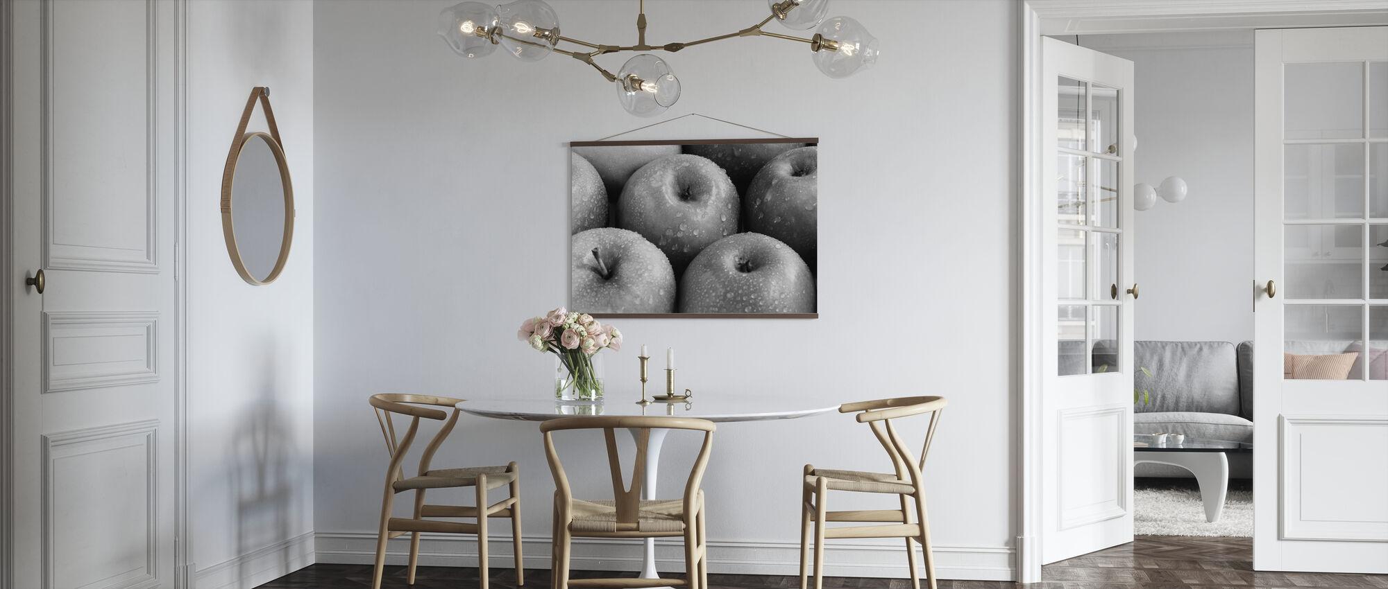 Appels - z/w - Poster - Keuken