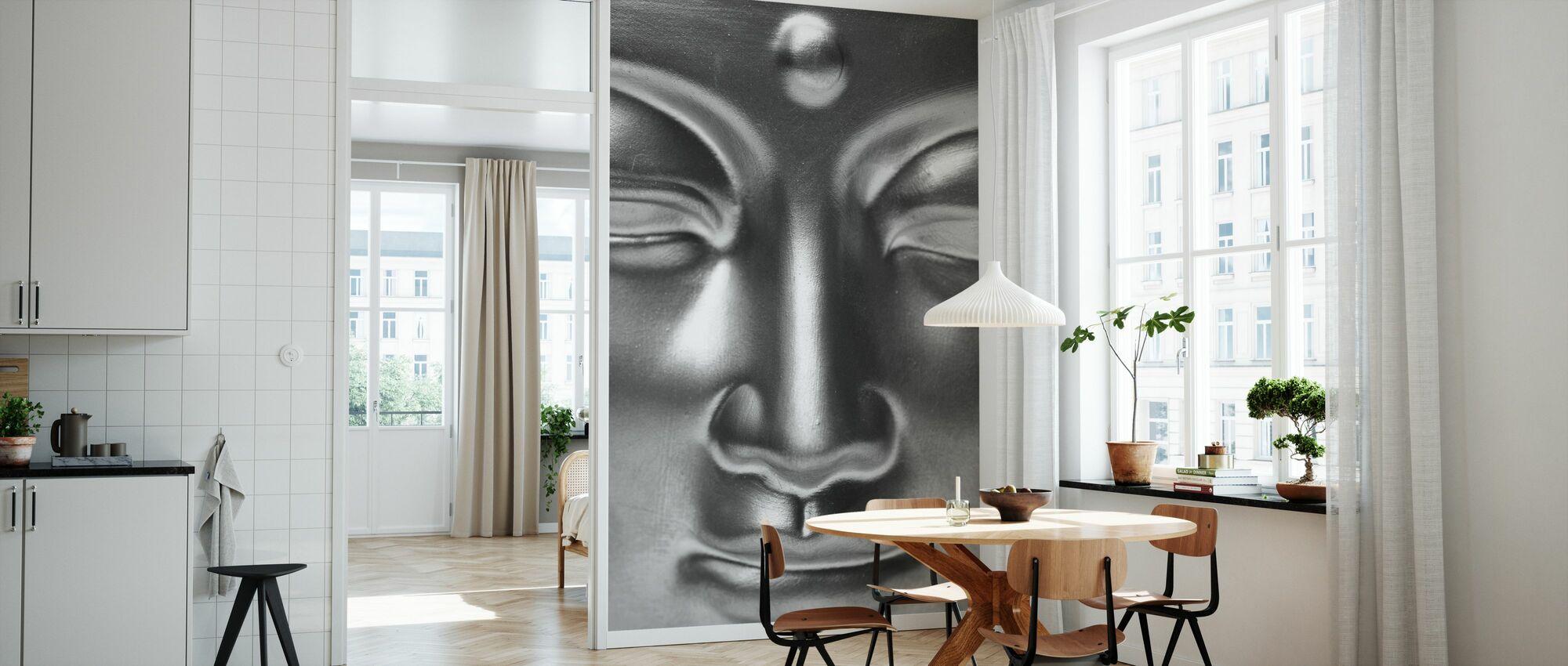 Golden Buddha närbild - b/w - Tapet - Kök