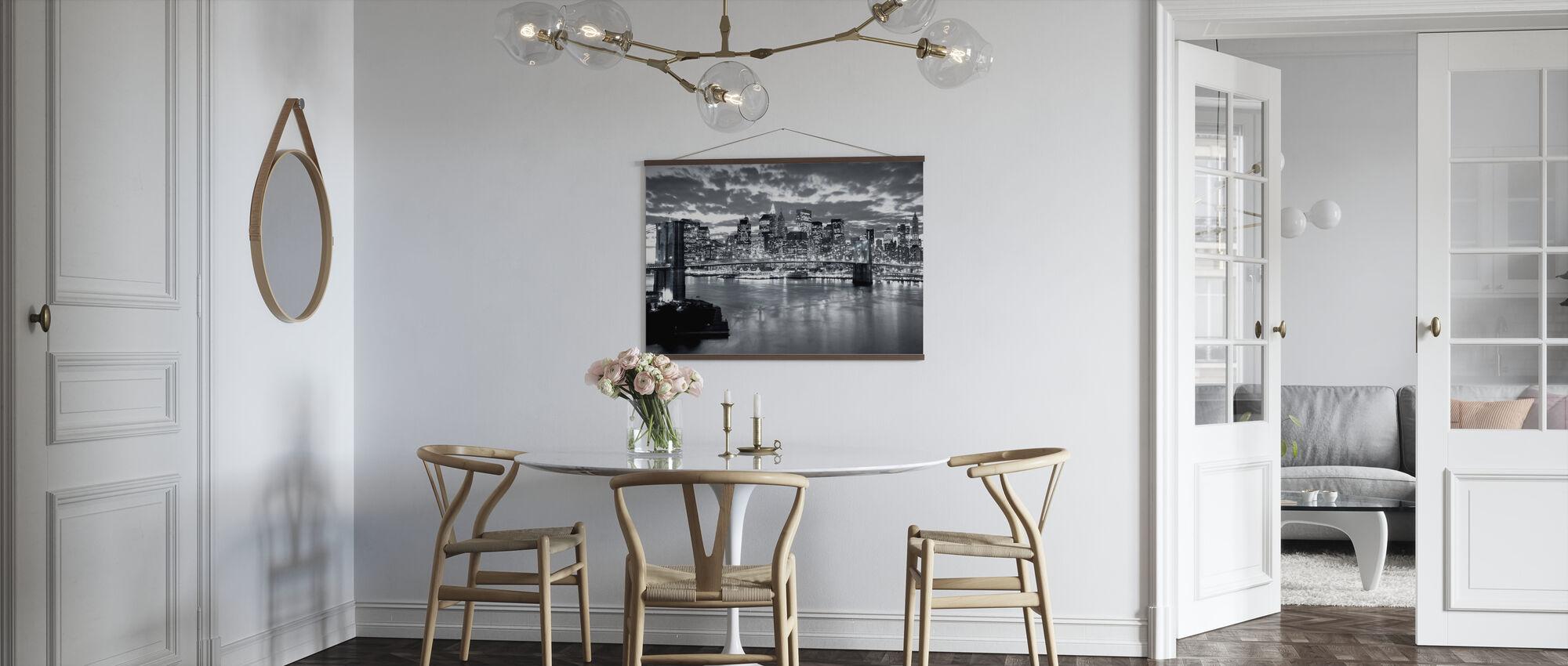 Brooklyn Bridge Cloudy Day - Poster - Kitchen