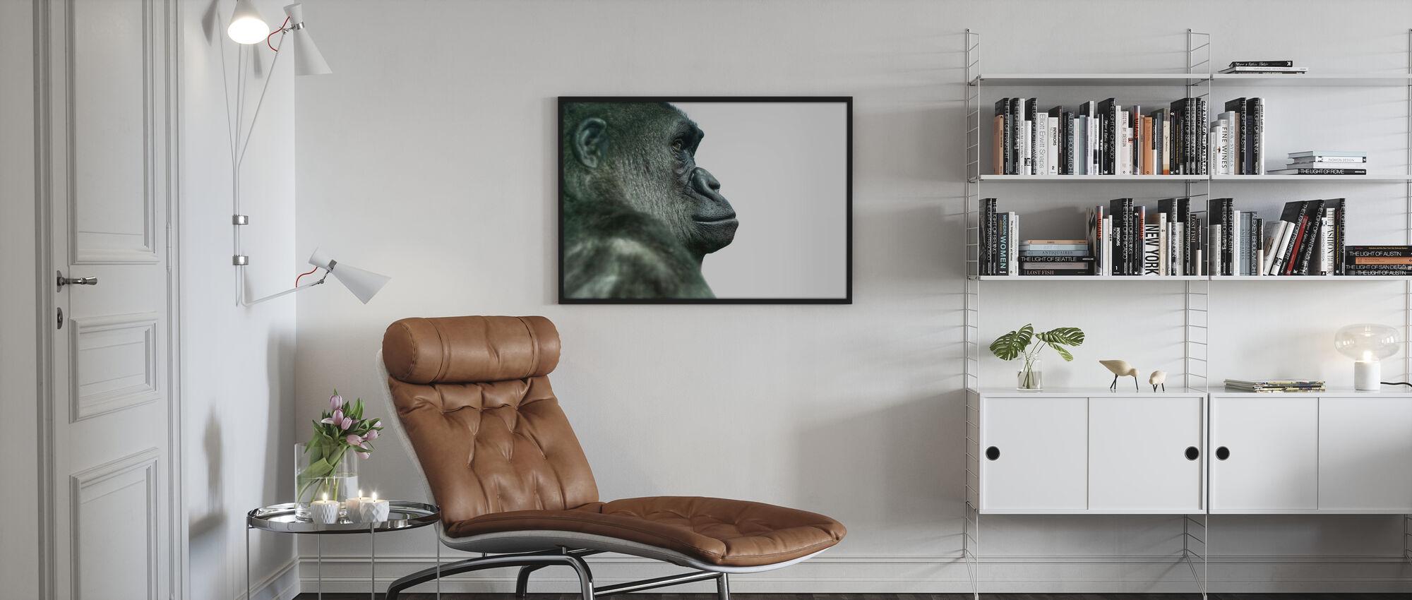 Gorilla - Framed print - Living Room