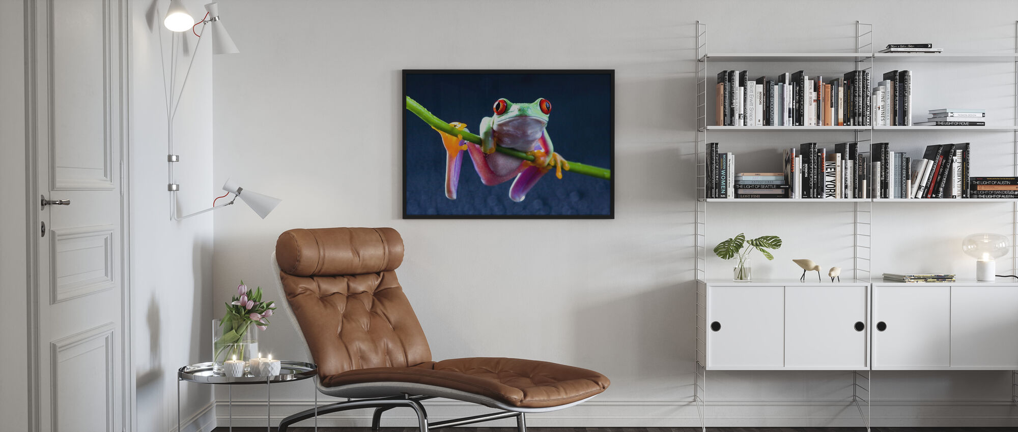 Grenouille rouge - Affiche - Salle à manger