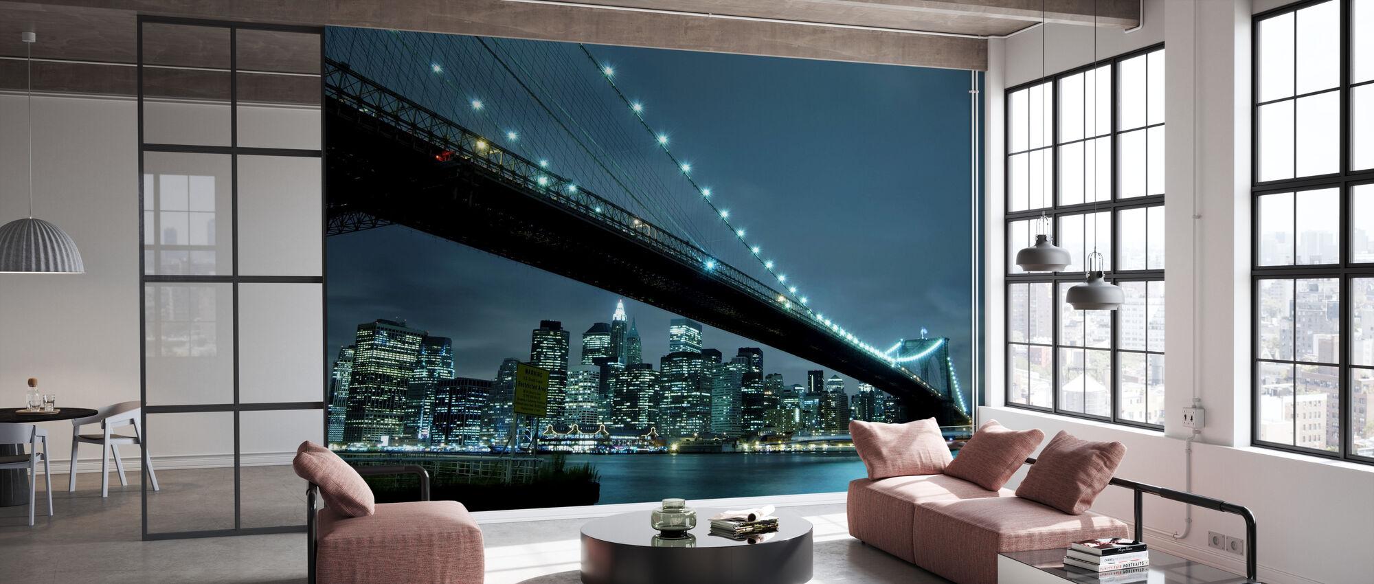 Brooklyn Bridge på natten - Tapet - Kontor