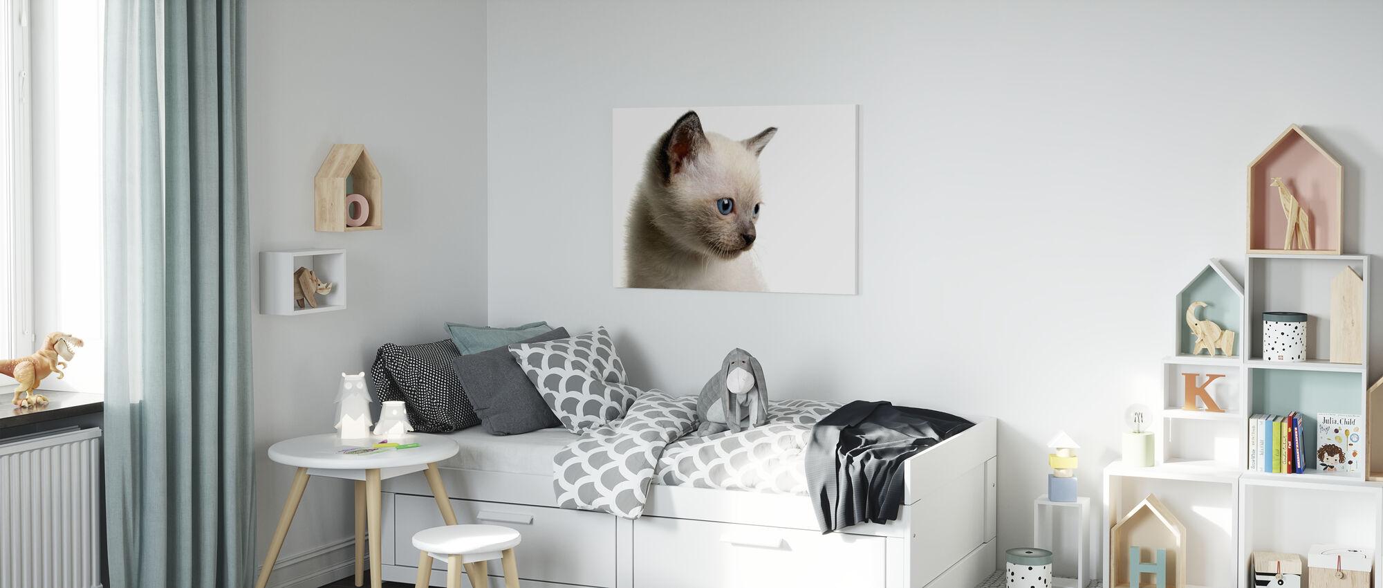 Blue Eyed Kitten - Canvas print - Kids Room