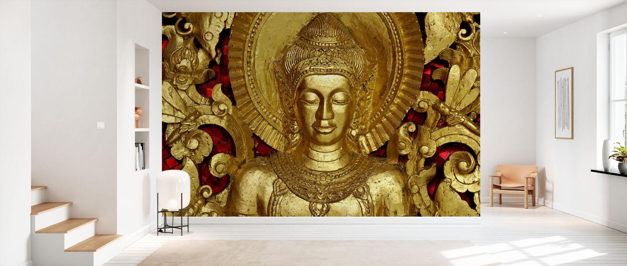 Boeddha - Luang Prabang - Behang - Gang