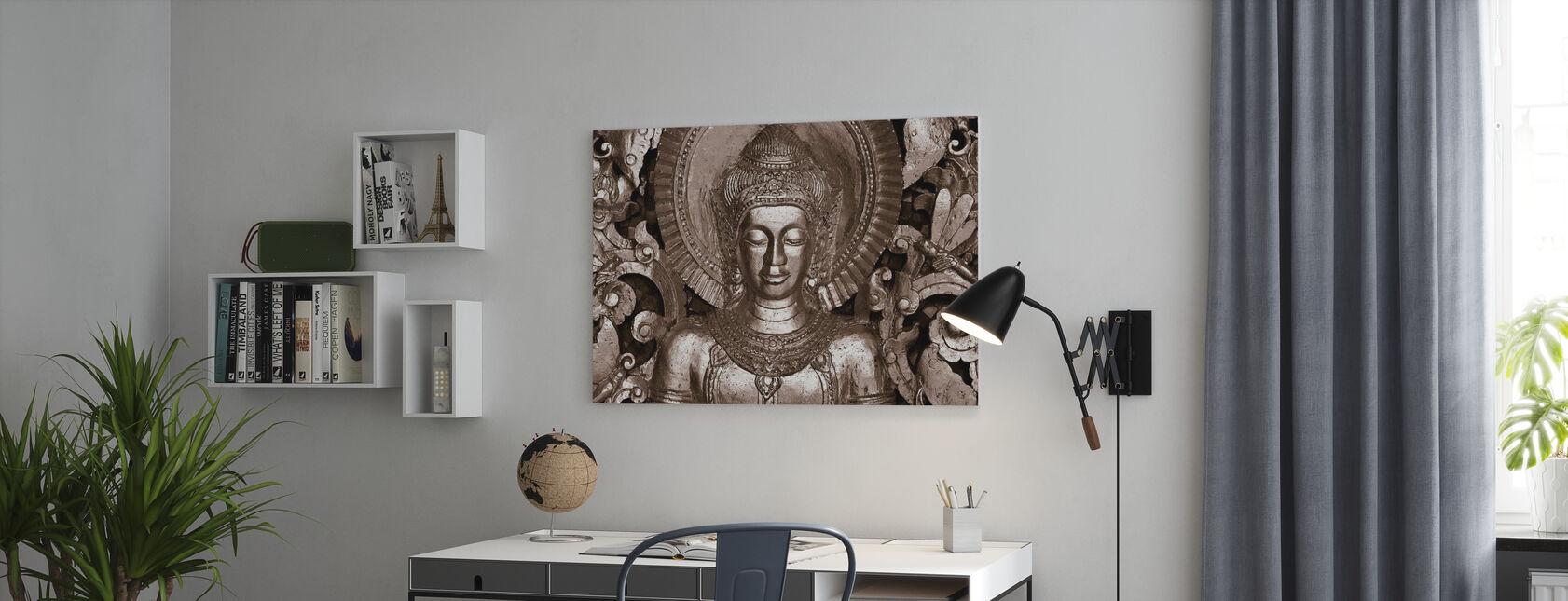 Buddha - Luang Prabang - Sepia - Canvas print - Office