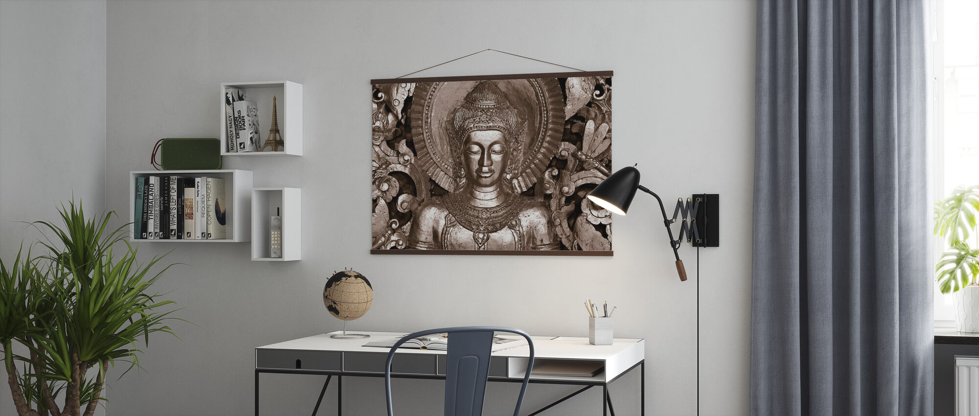 Buddha - Luang Prabang - Sepia - Poster - Kantoor