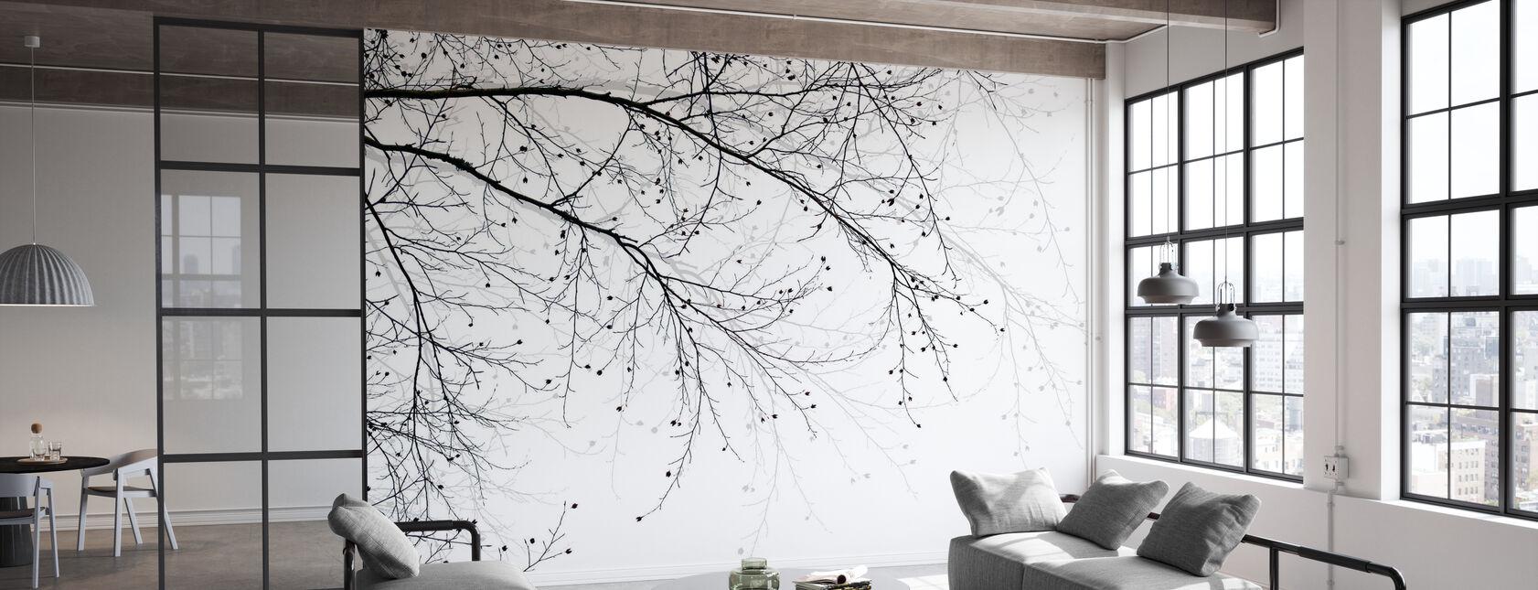 Hêtre noir - Papier peint - Bureau