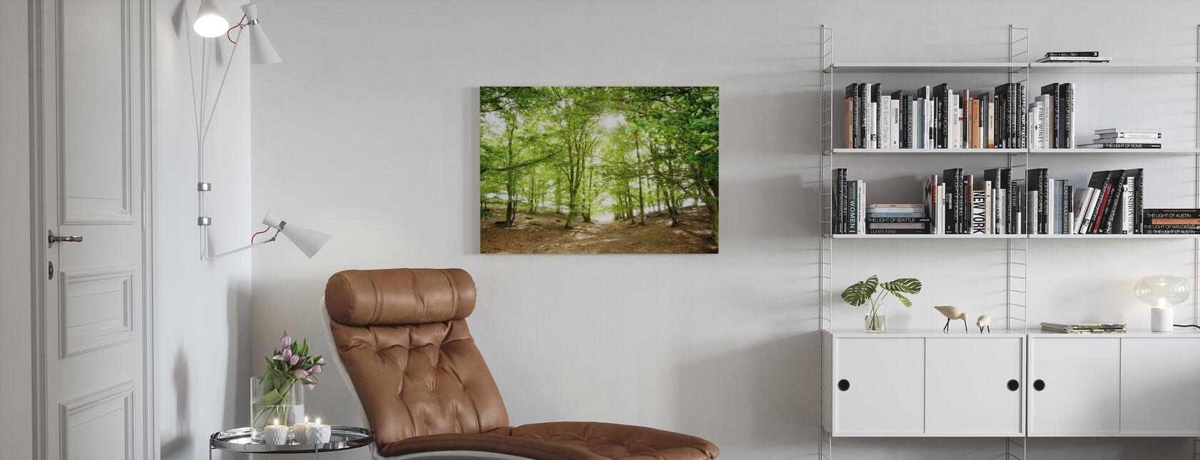 Green Path - Canvas print - Living Room