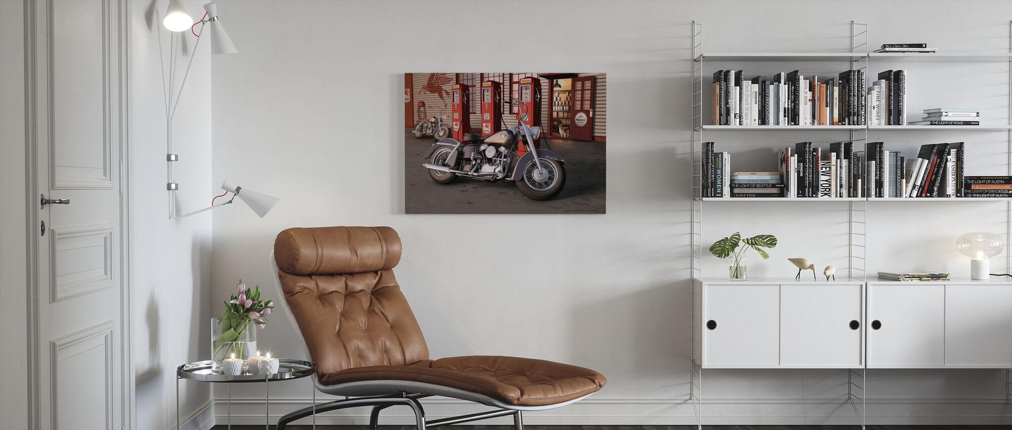 Twilight Dogs - Canvas print - Living Room