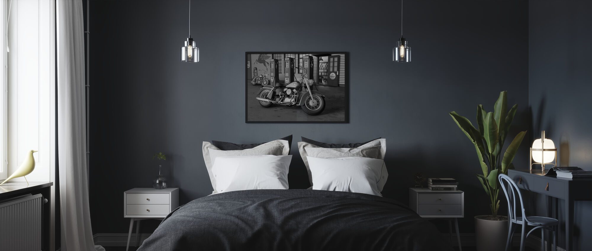 Twilight Dogs BW - Poster - Bedroom