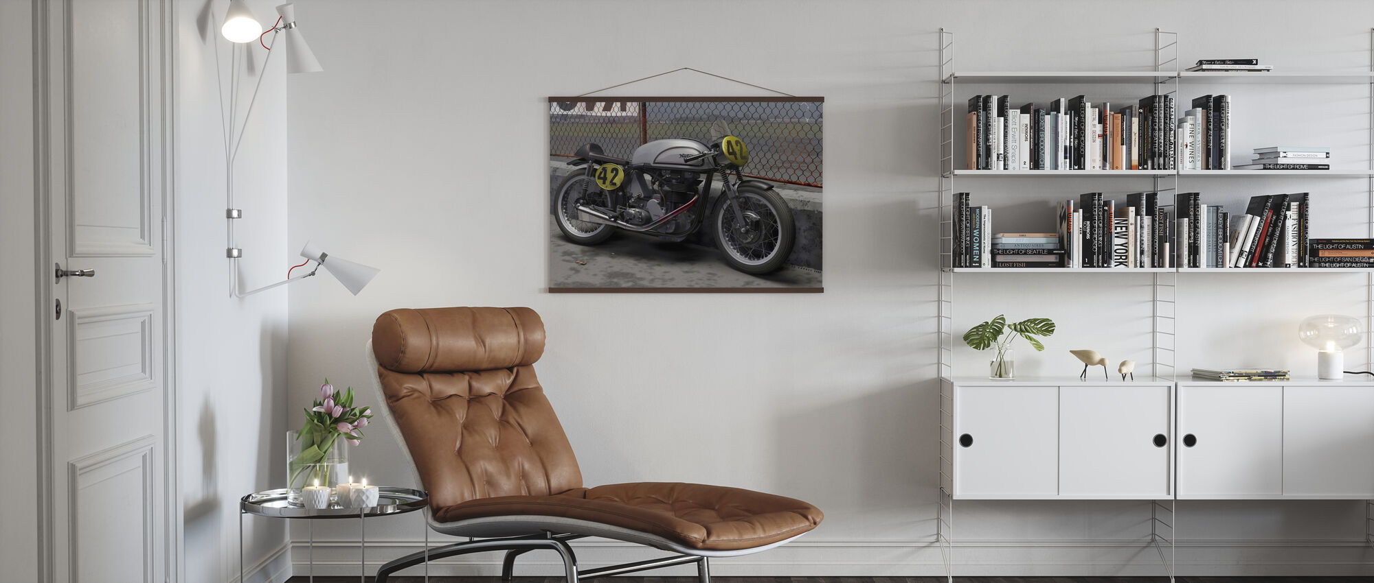 Motorcycle Final - Poster - Living Room