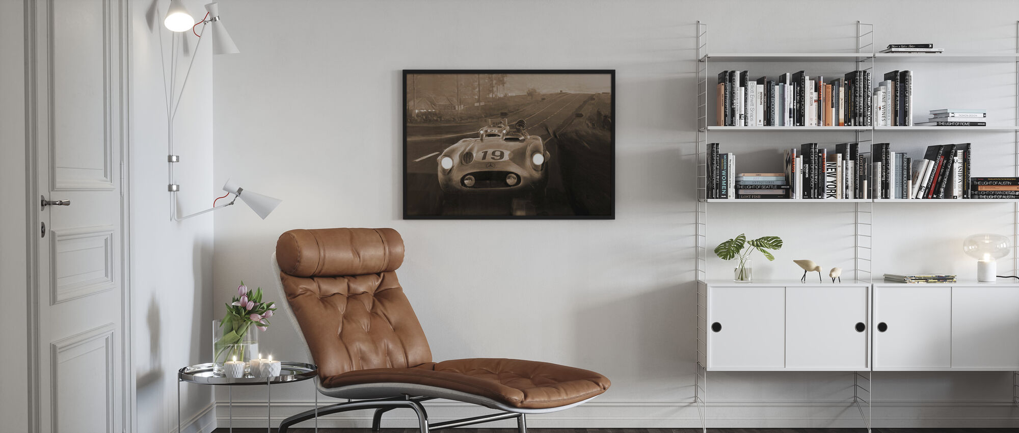 Old Classic Car Sepia - Framed print - Living Room