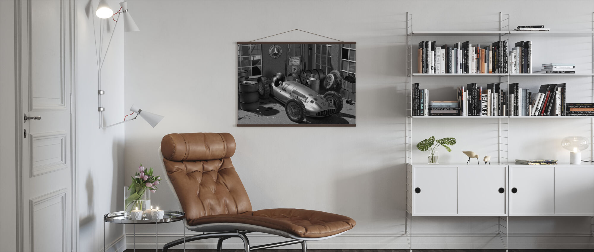 Trolley BW - Poster - Living Room