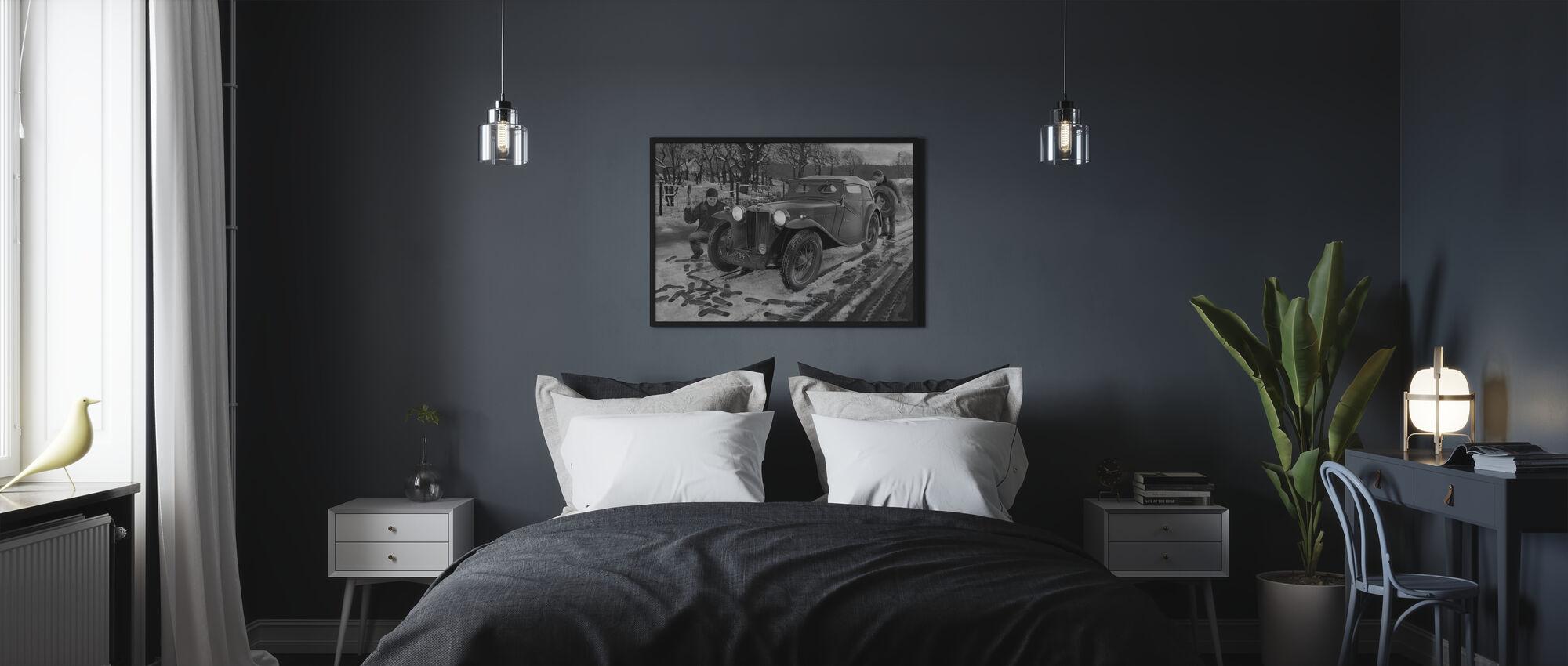 Winter-Rallye BW - Poster - Schlafzimmer