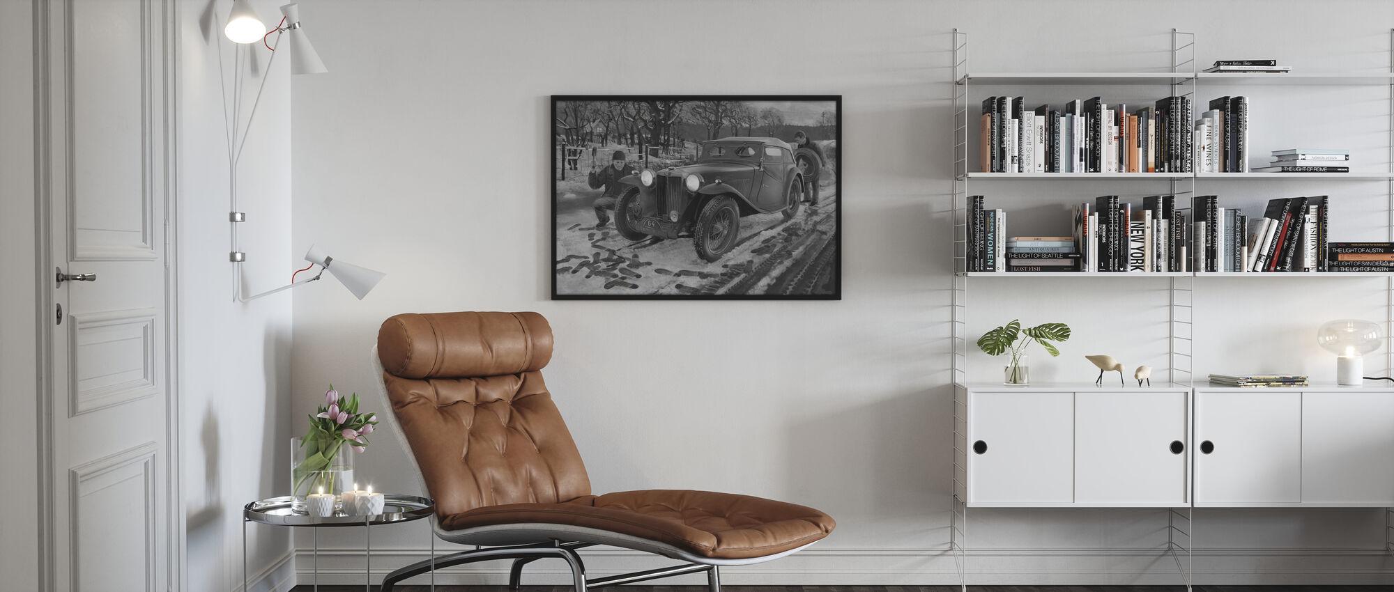 Winter Rally BW - Framed print - Living Room