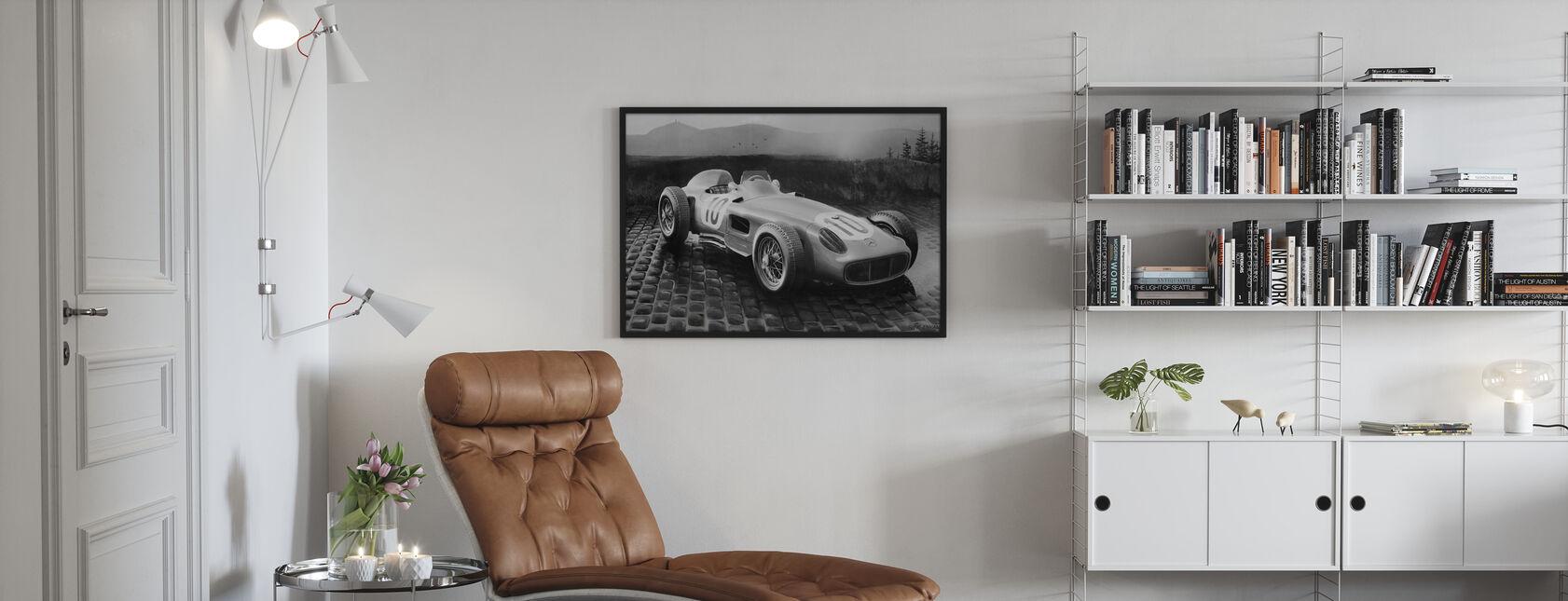 Auto 1954 BW - Ingelijste print - Woonkamer