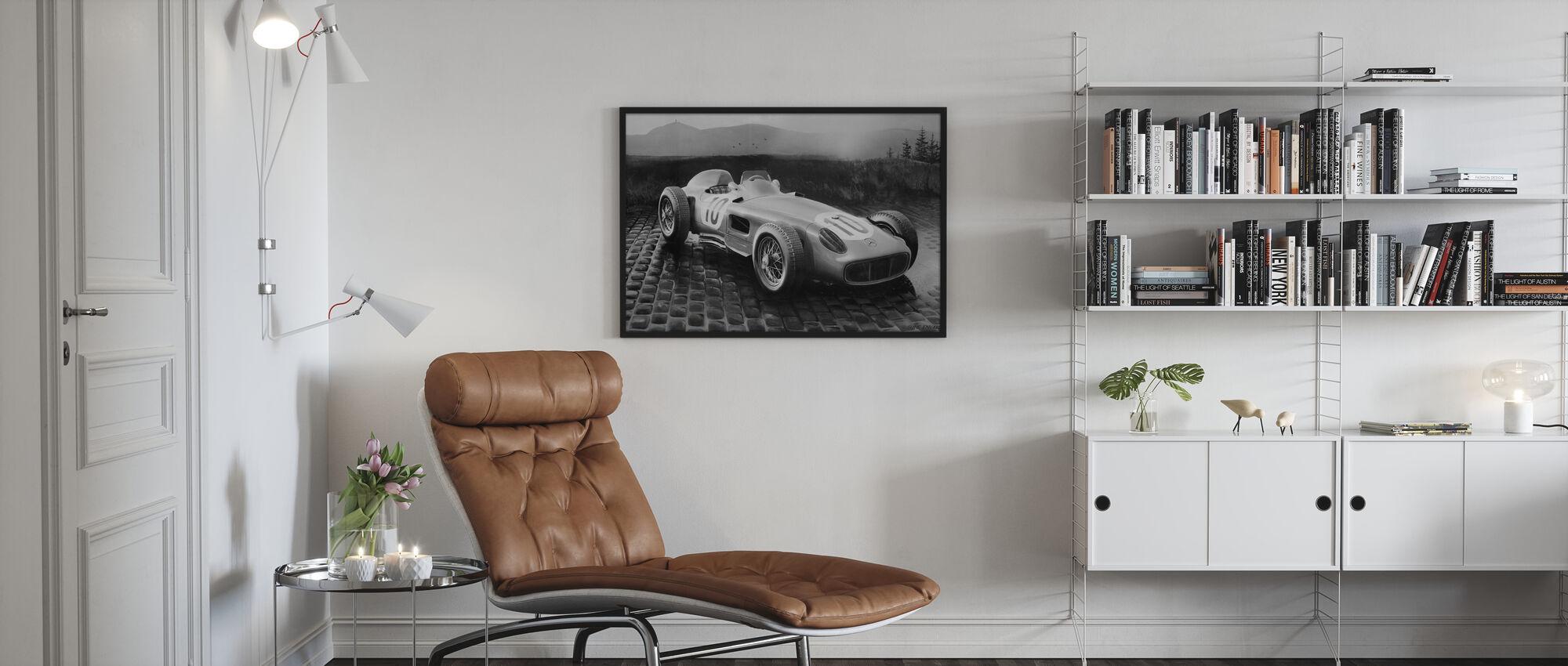 Car 1954 BW - Framed print - Living Room