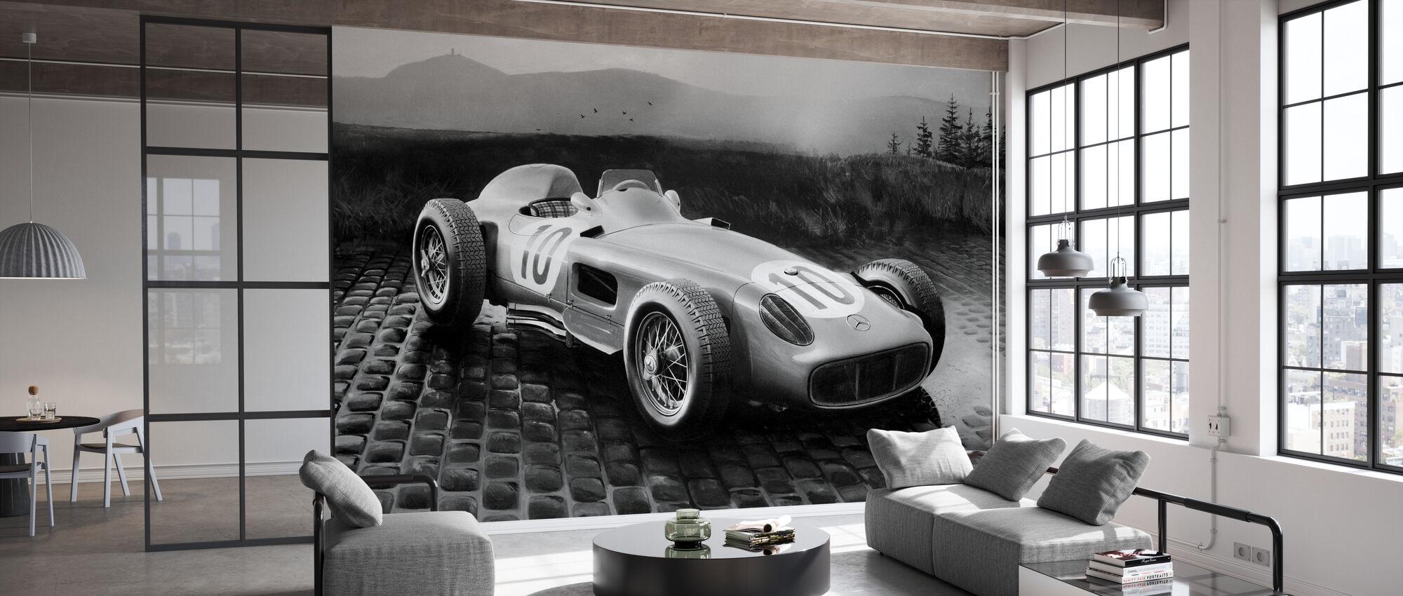 Car 1954 BW - Wallpaper - Office